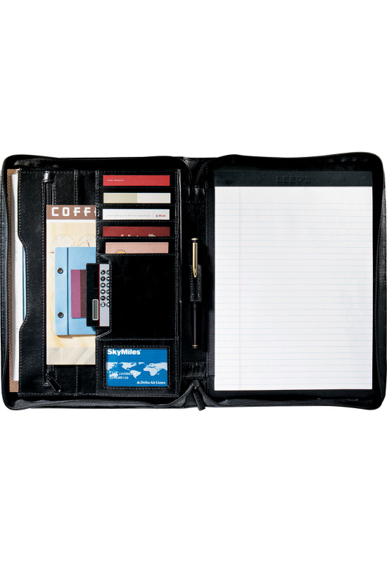 Renaissance Zippered Bonded Leather Padfolio  Image #1