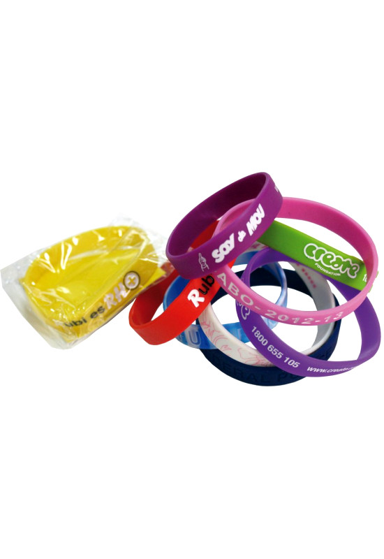Standard 12mm Silicon Wristbands  Image #1