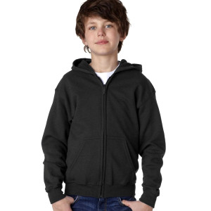 Gildan Youth Full Zip Hooded Sweatshirt