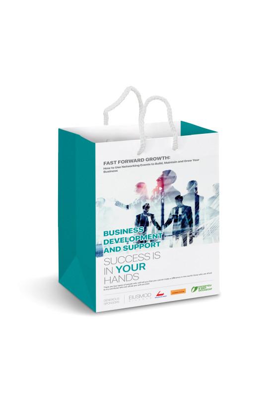 Medium Laminated Paper Carry Bag – Full Colour  Image #1