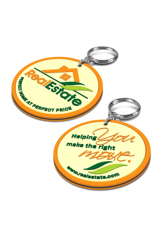PVC Key Ring Small - Both Sides Moulded