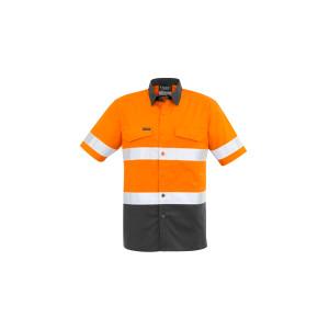 Mens Rugged Cooling Taped Hi Vis Spliced S/S Shirt