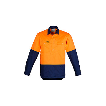 Mens Hi Vis Closed Front Shirt