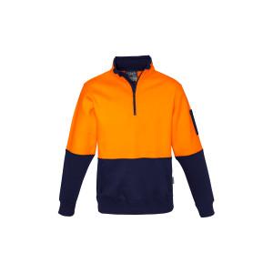 Unisex Hi Vis Half Zip Pullover