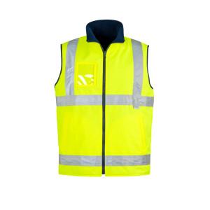 Mens Hi Vis Lightweight Fleece Lined Vest