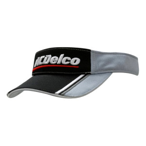 Mesh Knit Visor with Fabric Inserts and Embroidery on Peak