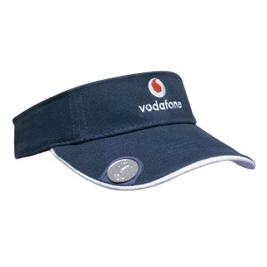 Heavy Brushed Cotton Golf Visor With Magnetic Marker