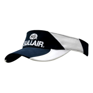 Brushed Heavy Cotton Visor with Inserts & Embroidery on Crown & Peak