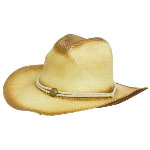 Sprayed Cowboy Straw Hat With String Band