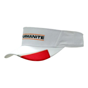 Brushed Heavy Cotton Visor with Peak Insert & Embroidery
