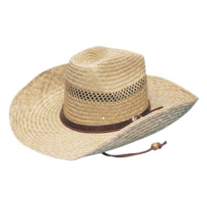 Cowboy Straw With Leather Band
