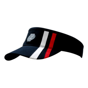 Brushed Heavy Cotton Visor with Stripes on Crown & Peak