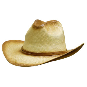 Sprayed Cowboy Straw Hat With Leather Band