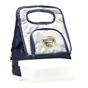 Silver Lunch Cooler Bag