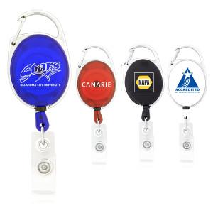 Retractable Badge Holder w/ Carabiner Clip