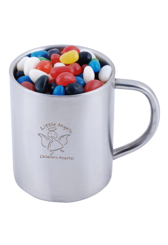 Assorted Colour Mini Jelly Beans in Java Mug   Image #1