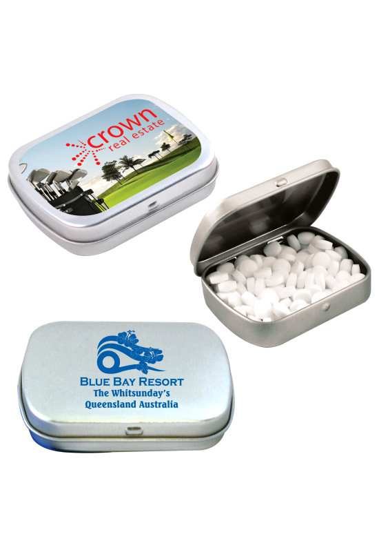 Sugar Free Breath Mints in Silver Tin  Image #1