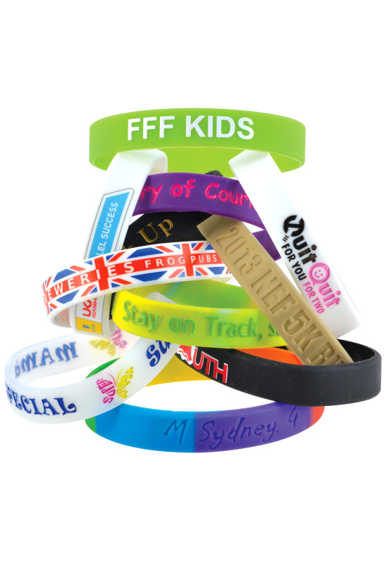 12mm Wide Silicone Wrist Band  Image #1