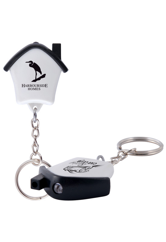 Mini House Flashlight Keytag  Image #1