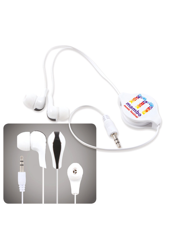 Zen Retractable Earbuds / Headphones  Image #1