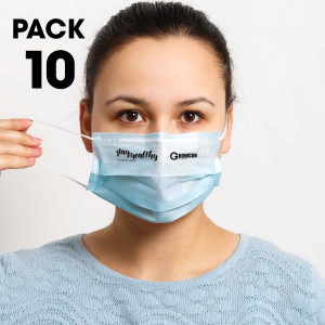 Pack of 10 - Disposable Face Masks  Image #1