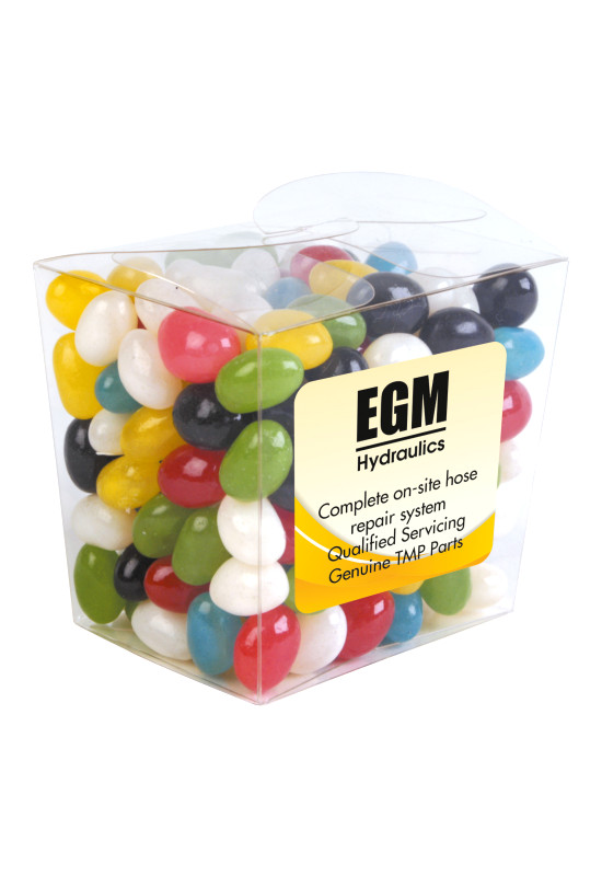 Assorted Colour Mini Jelly Beans in Clear Mini Noodle Box  Image #1