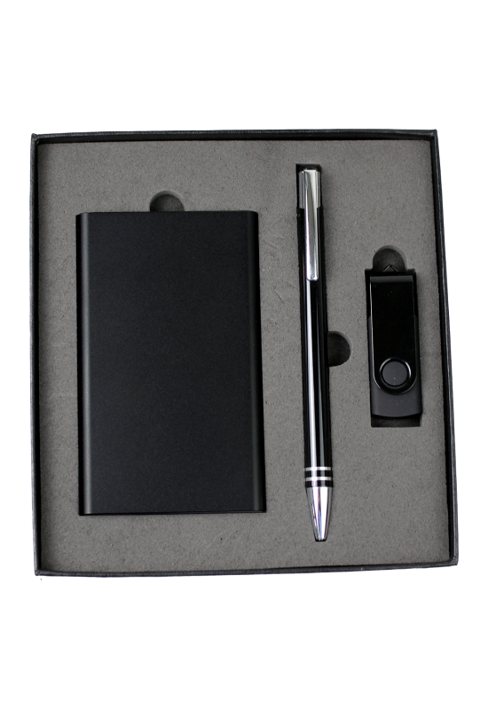 Gift Set - USB in 4G + Power Bank + Cable + Pen  Image #1