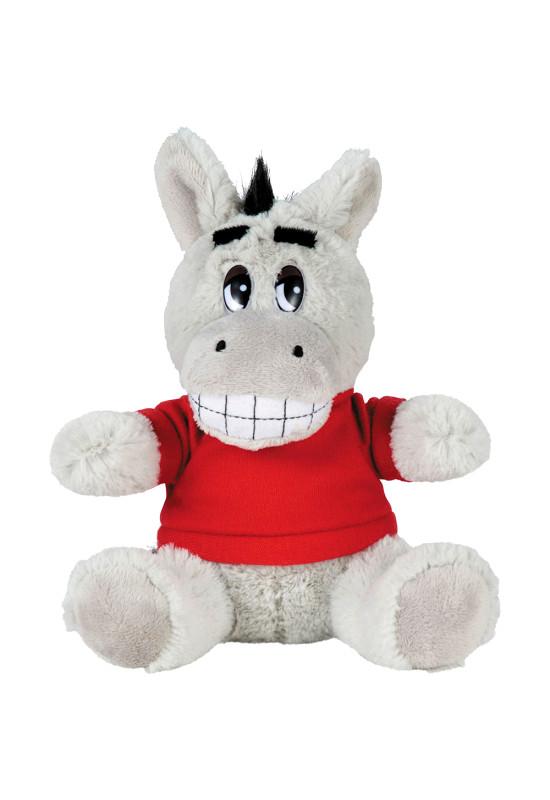 6 inch Plush Donkey with Shirt  Image #1