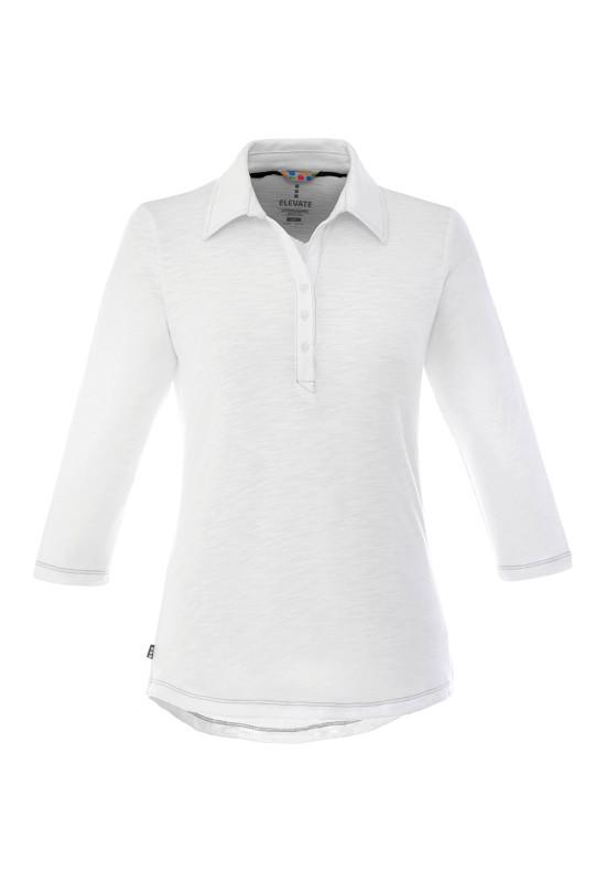 TIPTON Three Quarter Sleeve Polo - Womens  Image #1