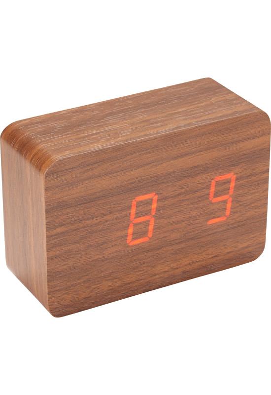 LED Display Clock - Wood  Image #1