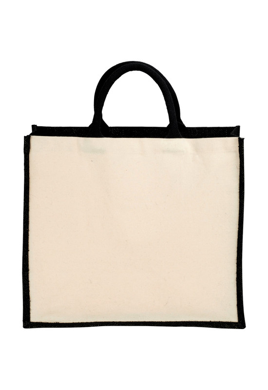 Metallic Jute and Cotton Shopper Tote  Image #1
