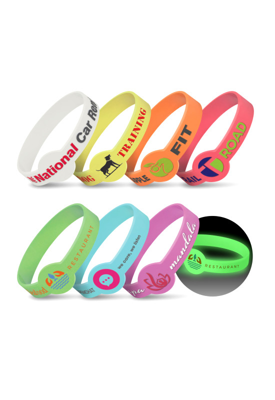 Xtra Silicone Wrist Band - Glow in the Dark  Image #1
