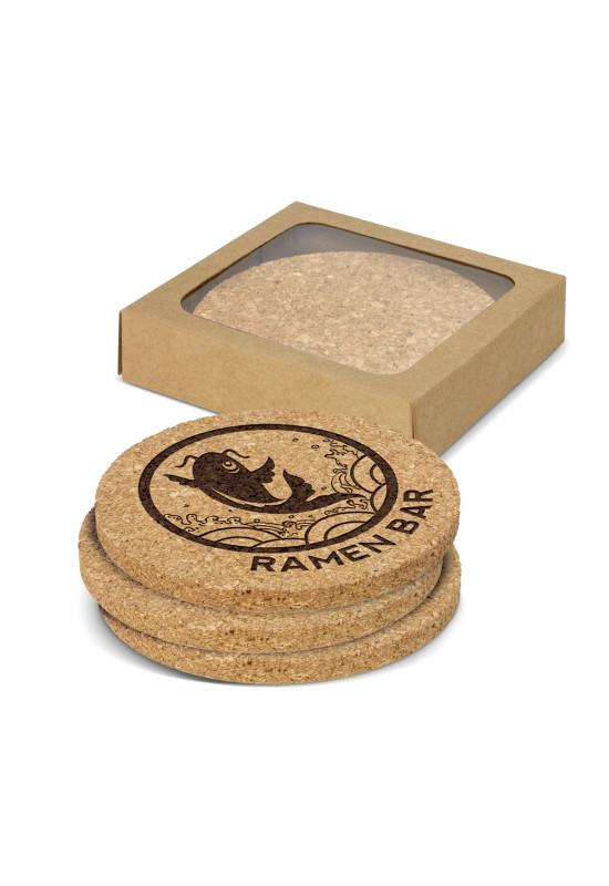 Oakridge Cork Coaster Round Set of 4  Image #1