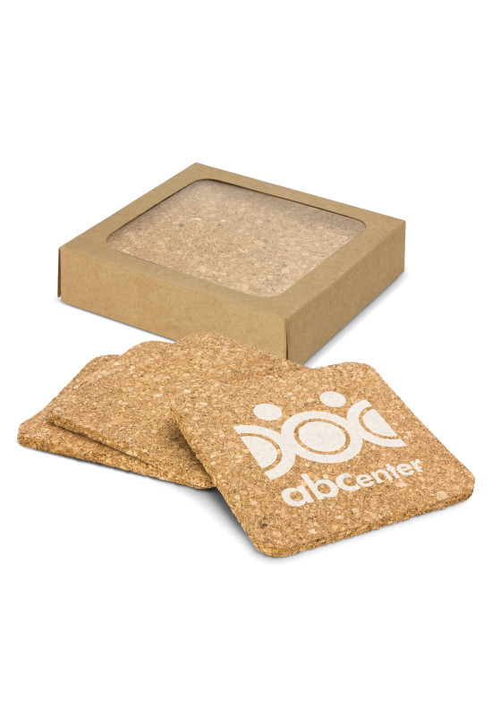 Oakridge Cork Coaster Square Set of 4  Image #1