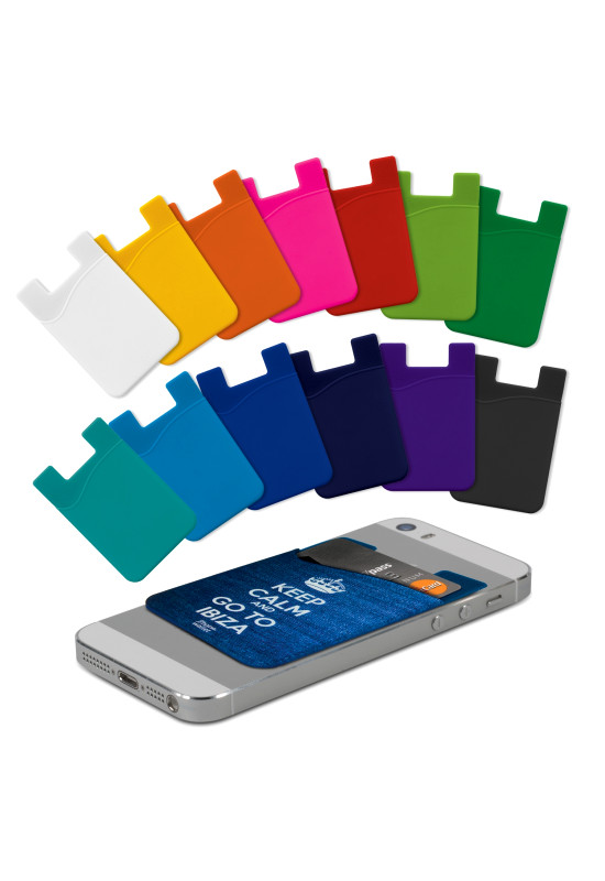 Silicone Phone Wallet - Full Colour  Image #1