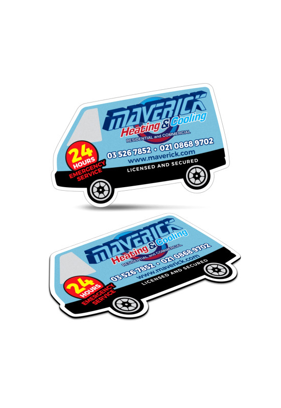 Fridge Magnet 90 x 55mm - Van Shape  Image #1