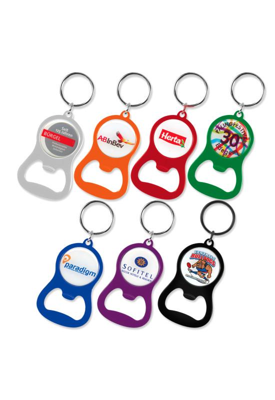 Chevron Bottle Opener Key Ring  Image #1