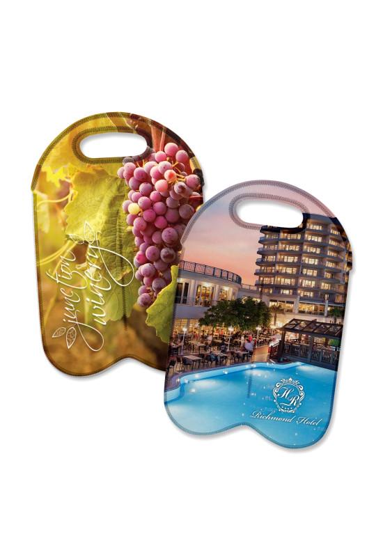 Neoprene Double Wine Cooler Bag - Full Colour  Image #1