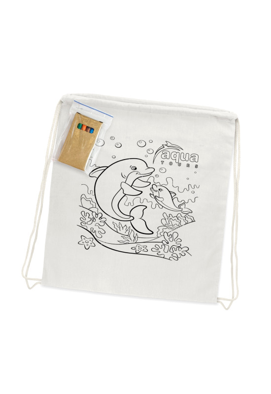 Cotton Colouring Drawstring Backpack  Image #1