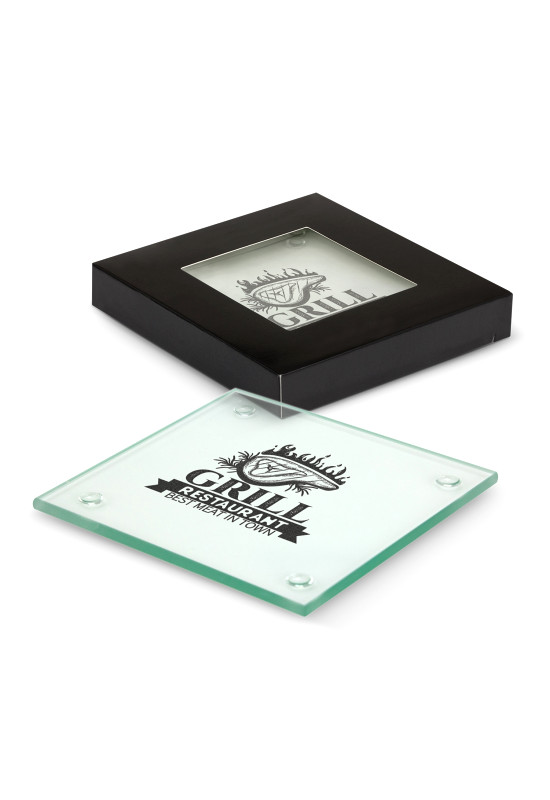Venice Glass Coaster Set of 4 - Square  Image #1
