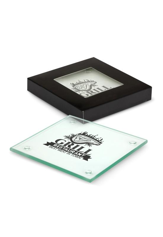 Venice Glass Coaster Set of 2 - Square  Image #1