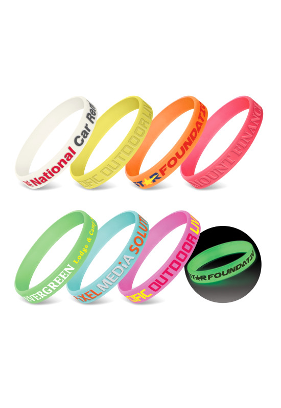 Silicone Wrist Band - Glow in the Dark  Image #1