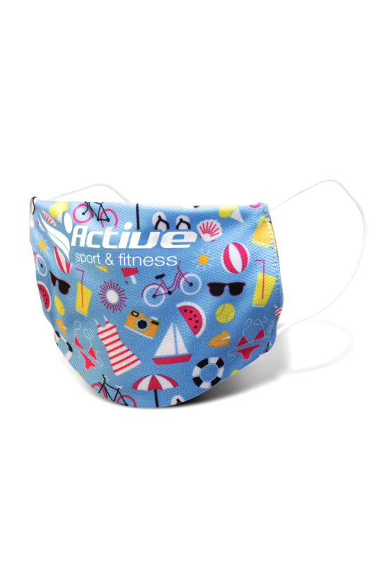 Reusable Face Mask Full Colour - Small  Image #1