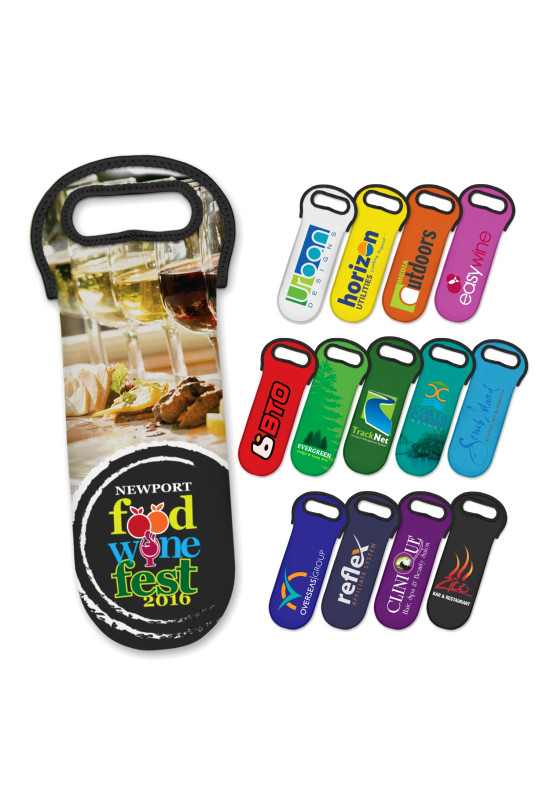 Neoprene Wine Cooler Bag - Full Colour  Image #1