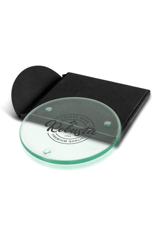 Venice Single Glass Coaster - Round  Image #1