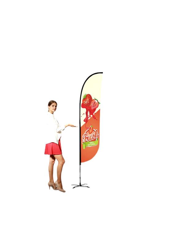 Convex Advertising Flag