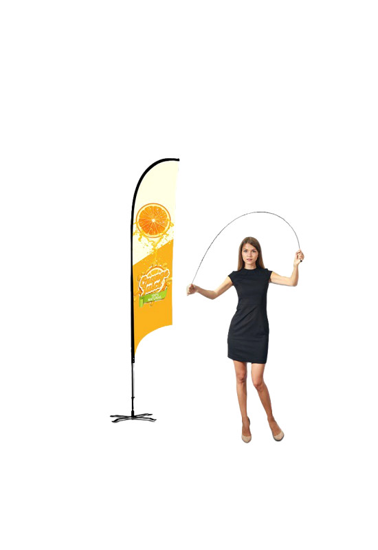 Concave Advertising Flag