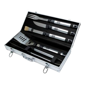 BBQ set in aluminium case