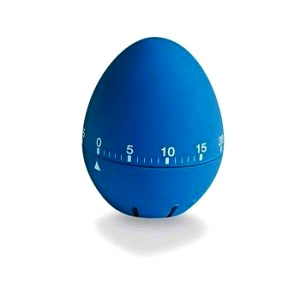 Blue kitchen timer egg shape