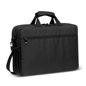 Black briefcase style laptop bag
